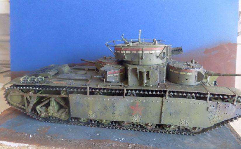 Soviet T-35 multi-turret heavy tank. Т-35 тяжёлый многобашенный танк. Stalin's Monster Tank. Zvezda 1/35